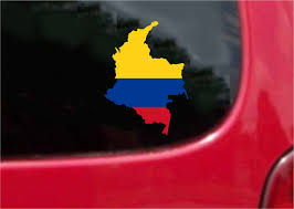 Colombia Outline Map Flag Vinyl Decal Sticker Full Color Weather Proof Customvinyldecals