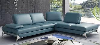 nova domus andrea modern blue leather
