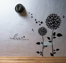 Tree Vinyl Wall Decals Wall Sticker Kids Wall Decal Nursery Vinyl Decals Bouquet Tree With Butterfly Home Decor Vinilos
