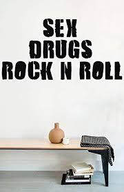 Amazon Com Fsds Vinyl Wall Decal New Sex Drugs Rock N Roll Home Decor Sticker Vinyl Decals Home Kitchen