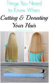 cutting donating your hair