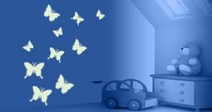 Glow In The Dark Butterfly Wall Decals Dezign With A Z