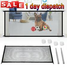 Uk Retractable Dog Gate Pet Cat Fence Baby Child Safe Wide Indoor Adjustable Ebay