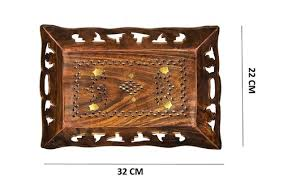 serving tray with hand carved