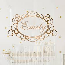 Name Wall Decal Personalized Name Decor Girls Nursery Decal Girls Bedroom Decor Name Decal Mirror Gold Name Letters A1 058 Buy At The Price Of 9 89 In Aliexpress Com Imall Com