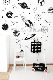Amazon Com Space Wall Decals Rocket Decals Constellation Decal Star Decals Planet Wall Decals Kids Room Wall Decor Removable Wall Stickers Ga158 Handmade