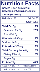 plain greek yogurt nutrition label