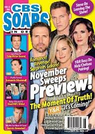 11-14-16 CBS Soaps In Depth ALLEY MILLS-DICK CHRISTIE | Soap Opera World