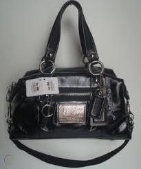 nwt coach poppy patent leather satchel