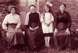 Four generations in one photo, Mrs Major, Great Grandmother Bowd ...