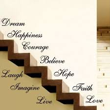 Stair Riser Stickers Ten Inspiration Words Wall Quotes Vinyl Decals Home Decor Wholesale Wall Stickers Wall Sticker Wall Quotesvinyl Decal Aliexpress