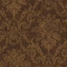 larkspur damask brown wallpaper brown