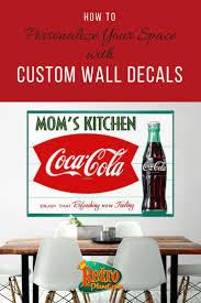 Get A Vintage Look With Wall Graphics That Apply To Walls Cabinets And Other Flat Surfaces We Ll Persona Custom Wall Decal Diy Wall Decals Custom Wall Decals