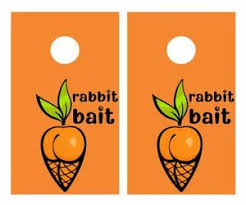 Rabbit Bait Sexy Carrot Cornhole Board Vinyl Decal Wrap Skin Sticker Funny Joke Ebay