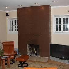 paint colors brick fireplace design