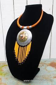 beaded tassels pendant necklace