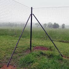 8 Tall Deer Fence Heavy Corner System 2 Pack Ebay