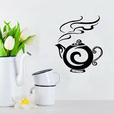 Teapot Tea Kitchen Cafe Home Decor Wall Sticker Art Murals Removable Self Adhesive Wall Decals Poster Window Door Decoration Wall Decals For Bedrooms Wall Decals For Cheap From Onlinegame 12 66 Dhgate Com