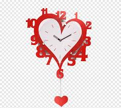 Clock Wall Decal Living Room Frame Red Wall Clock Love Furniture Png Pngegg