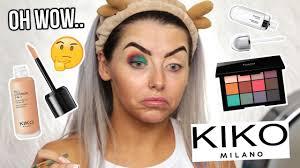 testing new kiko makeup full face of
