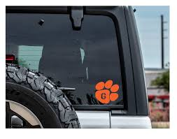 Clemson Decal Clemson Car Decal Clemson Custom Decal Clemson Initial Decal Clemson Car Decal Clemson Laptop Decal Clemson Initial Decals