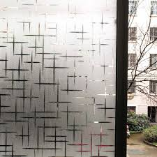 Wxshsh Privacy White Cross Non Adhesive Frosted Window Film Removable Static Cling Decorative Glass Sticker No Glue Uv Blocking Decorative Films Aliexpress