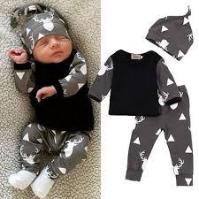 cute newborn baby boy clothes deer