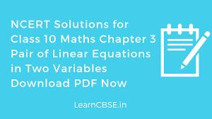 class 10 maths chapter 3