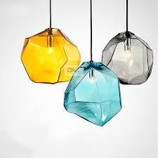 glass ice cube pendant light lamp