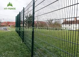 Anti Climb Double Loop Decorative Fence High Security Double Wire Mesh Fence