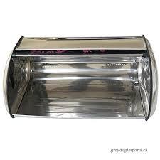 stainless steel bread box storage bin