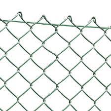 Green Pvc Coated Chain Link Fencing 240cm 8ft High