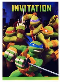 Teenage Mutant Ninja Turtles Invitaciones A Fiestas 8ct Simaro Co