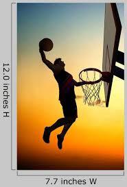 Man Dunking A Basketball Wall Decal Wallmonkeys Com