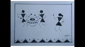 drawing very easy i warli painting art