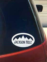 Jackson Hole Wyoming Grand Tetons Vinyl Car Window Decal Etsy