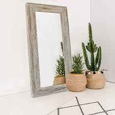 decorative wall hanging mirror rustic