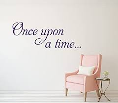 Amazon Com Once Upon A Time Wall Decal Home Quotes Sayings Words Art Decor Lettering Vinyl Wall Art Sticker 36 W X 14 H Baby