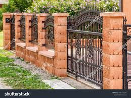 Wrought Iron Fence Wrought Iron Gate Buildings Landmarks Stock Image 1487115299