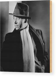 Portrait Of Actor George Raft Wood Print by Lusha Nelson