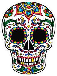 High Quality Calavera Sugar Skull Car Stickers And Decals