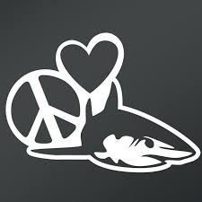 Peace Love Shark Vinyl Decal Sticker Cars Trucks Vans Walls Laptops Cups White 5 5 X 4 Inch Kcd1674 Walmart Com Walmart Com