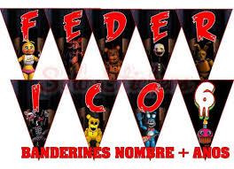 30 Tarjetas Invitaciones 10x9 Cm Five Nights At Freddy Fnaf