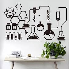 Science Experiment Chemistry Experiment Home Decor Wall Sticker Suitable For Nursery For Kids Room Classroom Vinyl Wall Decor Wall Stickers Aliexpress