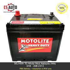 Century 55D23L Motolite Car Battery MF for Proton Preve, Toyota ...