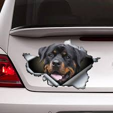 Funny Rottweiler Car Sticker Torn Metal Decal Reflective Stickers Pet Dog Decals 3d Rott Car Styling Wish
