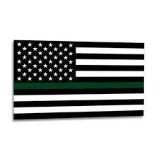 Thin Green Line American Flag Sticker 2 5 X 4 5 Inches Thin Blue Line Usa