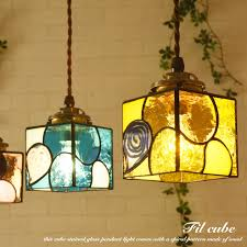 pendant light stained glass woolen yarn