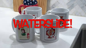 How To Use Waterslide Decal On A Ceramic Mug Youtube