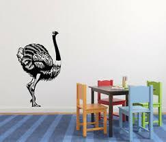 Vinyl Decal Wall Sticker Animals Bird Fantastic Ostrich N1210 Ebay